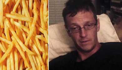"""Se pone """"hasta atrás"""" comiendo papas fritas"""