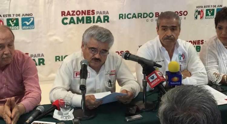 Denuncia PRI a candidatos del PAN ante la PGR