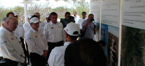 Pedro Joaquín Coldwell, secretario de Energía , Enrique Ochoa Reza, titular de la Comisión Federal de Electricidad y el Secretario de Medio Ambiente y Recursos Naturales, Juan José Guerra Abud estuvieron presentes en Los Cabos en el marco de la Reunión Nacional de Huracanes 2015.