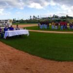Fue en el estadio Ostioneros de La Playa donde se desarrolló la inauguración