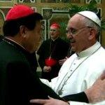 Norberto Rivera Carrera y el Papa Francisco.