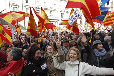 Miles protestaron en Barcelona