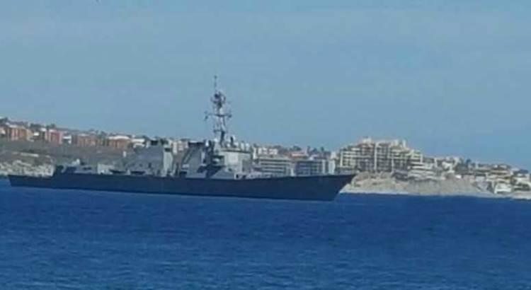«Sólo está de paso» por Los Cabos el destructor estadunidense