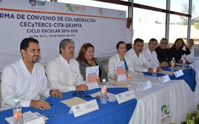 Signan convenio por la educación de jóvenes del CITA