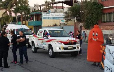 Repartieron condones durante el desfile de carros alegóricos