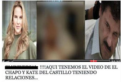 Rola video íntimo entre Kate y El Chapo
