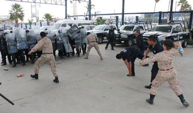 Restablece Policía Preventiva prácticas anti motín