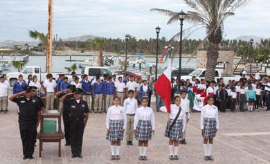 Inició la Ruta de la Bandera por la cabecera municipal