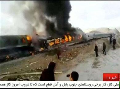 Trenazo en Irán