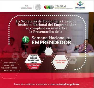 Invitan a la Semana del Emprendedor