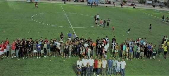 """la inauguración del torneo de fútbol llamado """"Juan Lucino Sández"""""""