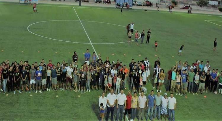 Inauguran torneo de fútbol