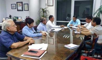 Se reúne Colegio de Ingenieros con Alcalde