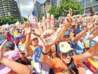 A cien días de lucha en las calles en Venezuela