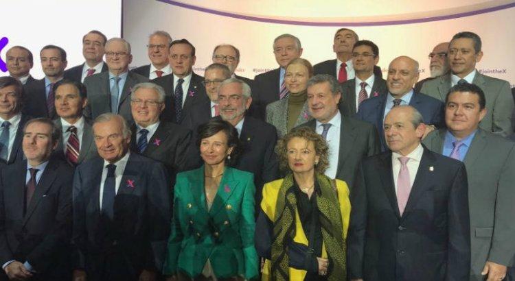 """Asiste rector de la UABCS al lanzamiento de """"Plataforma Santander X"""""""