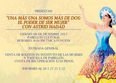 Astrid Hadad en concierto con causa