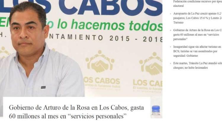"""Aclara Gobierno de Los Cabos el tema de los """"gastos excesivos"""""""