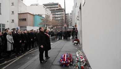 """Conmemora Francia atentados contra """"Charlie Hebdo"""" y supermercado judío"""