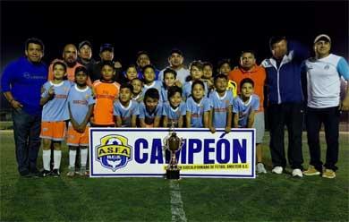 CSL, campeón de Futbol Sub 10