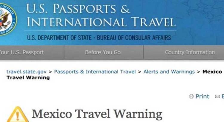 """""""Muy sospechoso"""" el retiro de las alertas de viaje"""