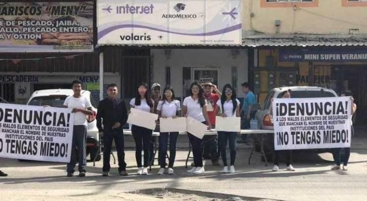 Manifestación ciudadana en Guaymitas