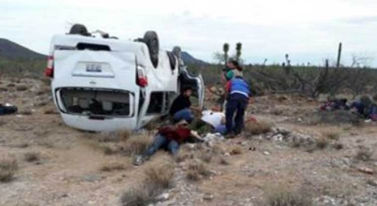 Se accidentó el vehículo donde viajaba Marichuy
