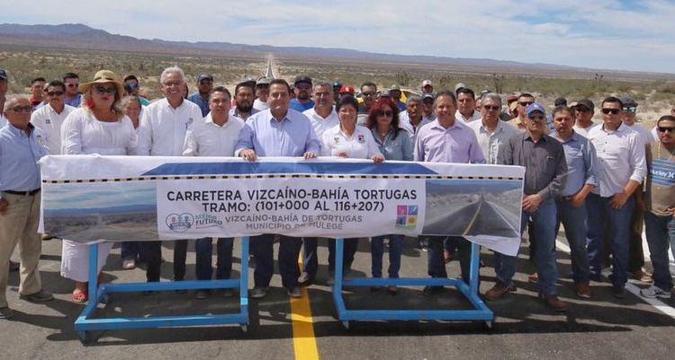 Quedó concluida la carretera Vizcaíno-Bahía Tortugas