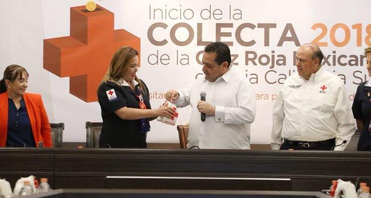 Ratifica gobernador compromiso y solidaridad con Cruz Roja mexicana