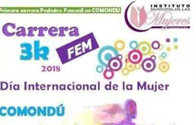 Invitan a la carrera  3K FEM 2018