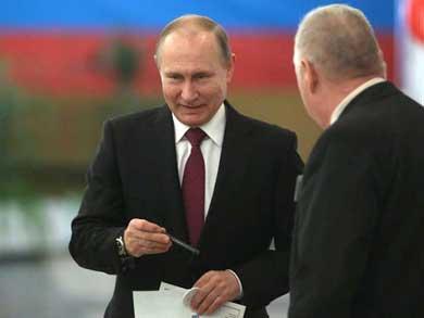 Logra Putin cuarto mandato