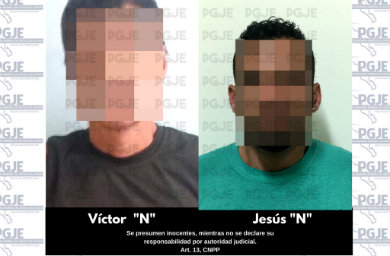 Con cristal atraparon a Víctor y Jesús