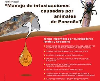 """En puerta simposium  """"Manejo de intoxicaciones causadas por animales de ponzoña"""""""