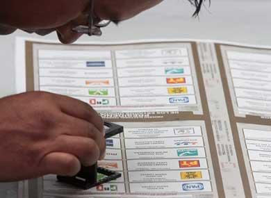 Para candidatos no registrados los votos de Margarita
