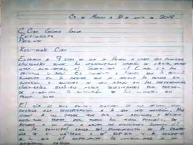 Con carta Javier Duarte se defiende de las acusaciones de Yunes