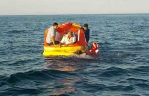 El vuelo de rescate 72ANX2309 se dirigió a la zona del impacto, donde los sobrevivientes esperaban ser auxiliados,  mientras se mantenían a flote con sus chalecos salvavidas.