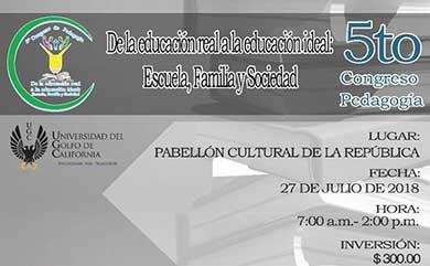 Invitan al 5to Congreso de Pedagogía