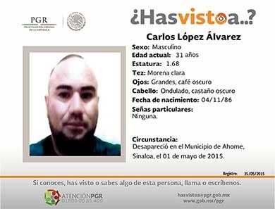 ¿Has visto a Carlos López Alvarez?