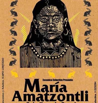 María Amatzontli -Cabellera de papel