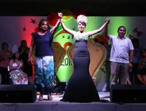 """Coronación de Fernanda I, como reina de la """"Feria del Mango 2018""""."""