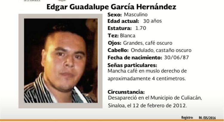 ¿Has visto a Edgar Guadalupe García?