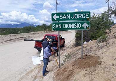 Culmina instalación de nomenclaturas en la delegación de Santiago