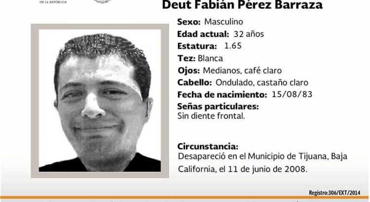 ¿Has visto a Deut Fabián Pérez Barraza?