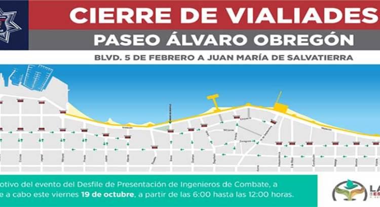 Cerrarán vialidades en el Malecón