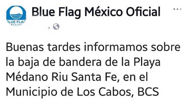 """Le retiran la """"Blue Flag"""" a la playa del Hotel Riu"""