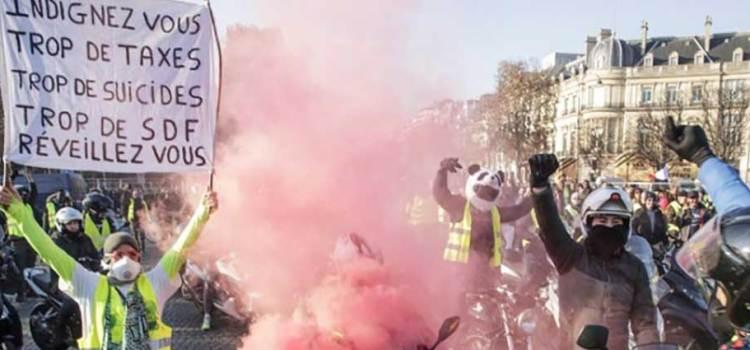 """Protestas en Francia contra el """"gasolinazo"""""""