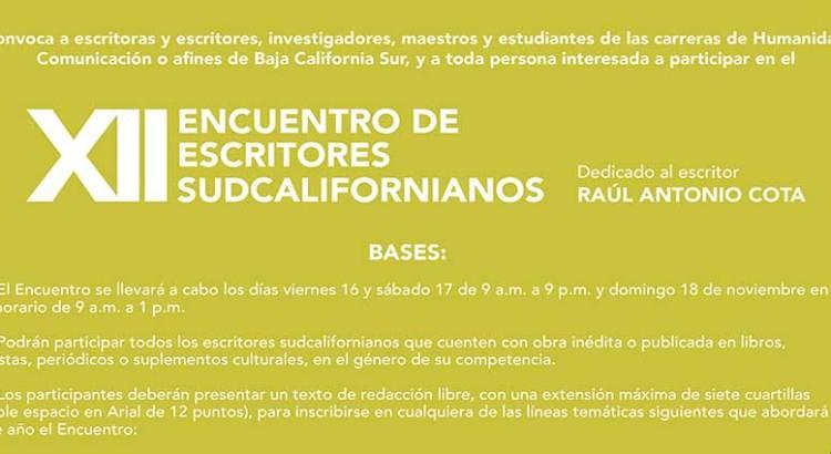 Convocan al Encuentro de Escritores Sudcalifornianos