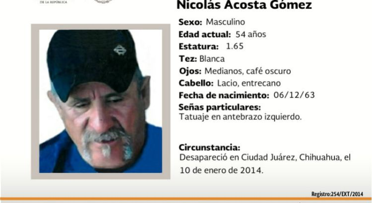 ¿Has visto a Nicolás Acosta Gómez?