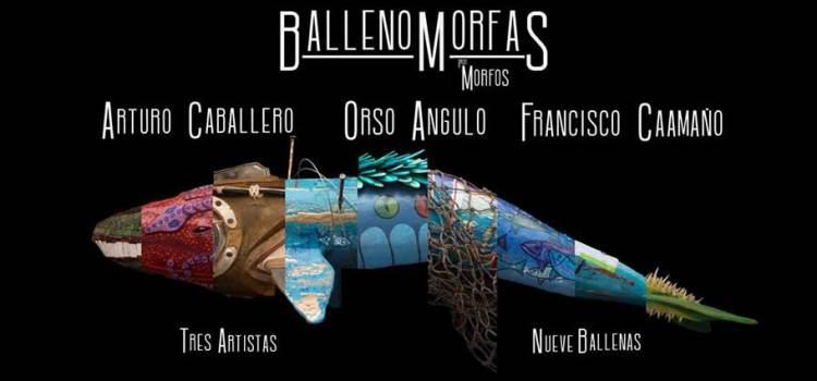 Tres artistas, nueve ballenas