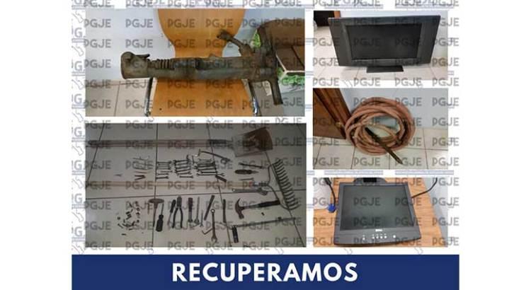 Recupera PGJE objetos con reporte de robo