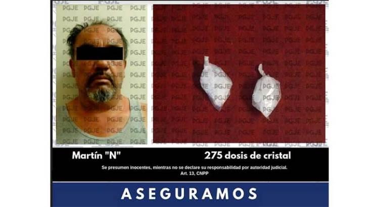 Con cristal detuvieron a Martín